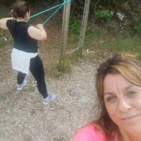 allenamento funzionale all'esterno con Anna Chiara Ferri